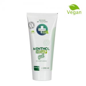 Menthol hemp gel crema de cannabis con mentol efecto frío antiinflamatoria