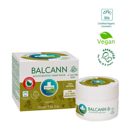 BALCANN Crema cannabis corteza de roble concentrada regeneradora hidratante intensiva