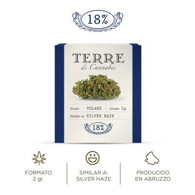 Volare Terre di Cannabis Flores de Cáñamo CBD Cannabis Light Silver Haze